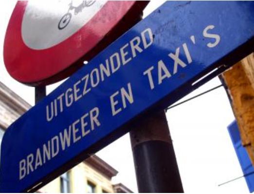 Uitgezonderd taxi